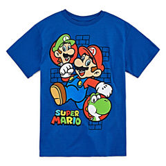 Super Mario Super Mario Graphic T-Shirt-Big Kid Boys