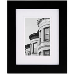 Black with White Gallery Matted Picture Frame