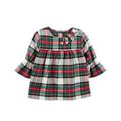 Carter's Elbow Sleeve Babydoll Top - Toddler Girls