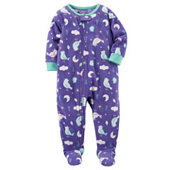 Carter's Long Sleeve One Piece Pajama-Toddler Girls