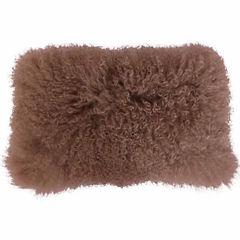 Thro by Marlo Lorenz Mongolian Lamb Throw Pillow