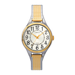 Carriage by Timex® Womens Two-Tone Stainless Steel Expansion Bracelet Watch C3C3679J