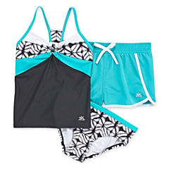 Zero Xposure Girls Geometric Tankini Set Plus - Big Kid