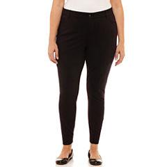 Liz Claiborne Classic Fit Slim Pants-Plus