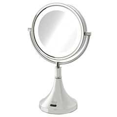 Sharper Image 8X-1X LED Lighted Table Mirror w/Motion Sensor