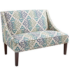 Madison Park Calloway Scroll Floral Loveseat Settee