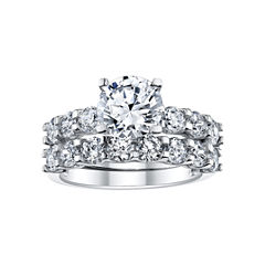 DiamonArt® 4 CT. T.W. Cubic Zirconia Bridal Ring Set
