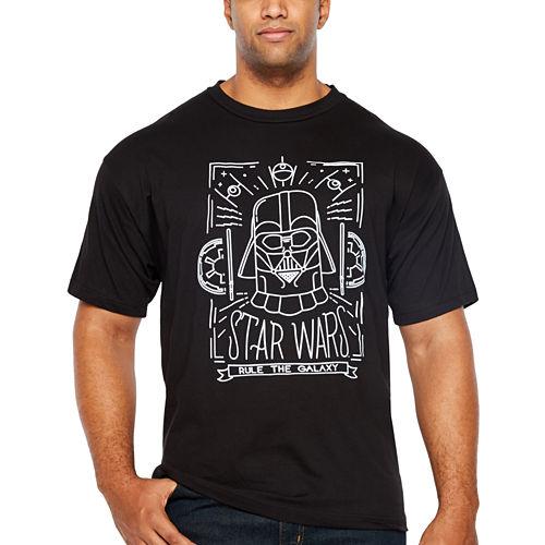 Starwars Travel Wars Short Sleeve Graphic T-Shirt-Big and Tall