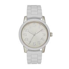 Womens White Strap Watch-Fmdjo108
