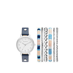 Arizona Womens Blue 7-pc. Watch Boxed Set-Fmdarz166