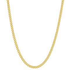 14K Gold Over Silver 16 Inch Chain Necklace