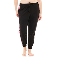 Flirtitude Velvet Jogger Pants-Juniors Plus