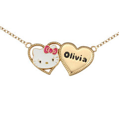 Hello Kitty® Personalized Girls Two Heart Necklace