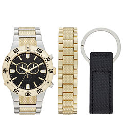 Mens Gold Tone 3-pc. Watch Boxed Set-Fmdjset519