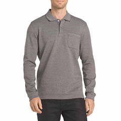 Van Heusen Long Sleeve Heather Tipped Flex Polo