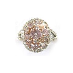 Womens 7/8 CT. T.W. Genuine Pink Diamond 18K Gold Engagement Ring