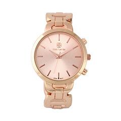 Daisy Fuentes Womens Rose Goldtone Bangle Watch-Df123rg