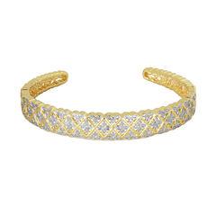 Sparkle Allure White Cuff Bracelet