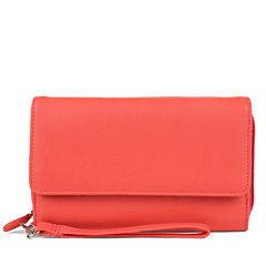Mundi Big Fat Better Than Leather Wristlet RFID Blocking Wristlet Wallet