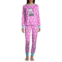 Pink Unicorn Supersoft Pajama Pant Set