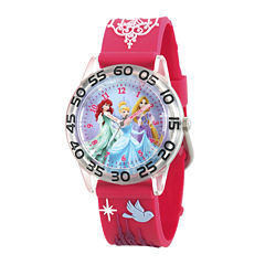 Disney® Princess Girls Red Strap Watch