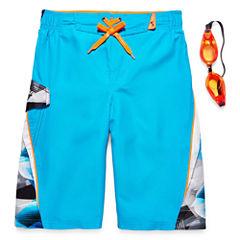 Zero Xposur Boys Geometric Swim Trunks-Big Kid