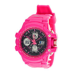 Everlast® Womens Pink Strap Analog/Digital Sport Watch