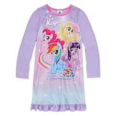 Long Sleeve My Little Pony Nightgown-Big Kid Girls