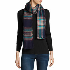City Streets Plaid Blanket Plaid Cold Weather Scarf