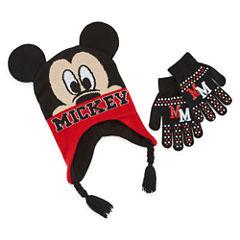 Mickey Mouse Hat & Glove Set - Boys Preschool 4-7