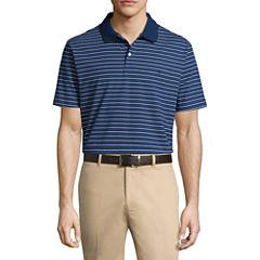 Dockers Easy Care Short Sleeve Stripe Knit Polo Shirt