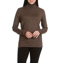 Larry Levine Long Sleeve Turtle Neck Sweater