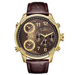 JBW 0.19 Ctw Mens Brown Strap Watch-J6353a