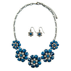 Mixit Womens 3-pc. Clear Necklace Set