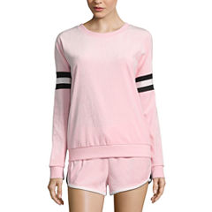 Flirtitude Long Sleeve Sweatshirt-Juniors