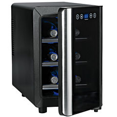 Wine Enthusiast® 6-Bottle Silent Touchscreen Wine Refrigerator
