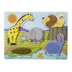 Melissa & Doug® Zoo Animals Touch And Feel Puzzle