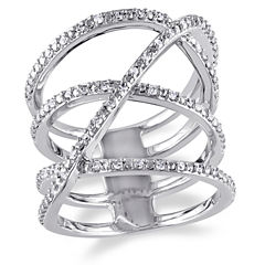 1/5 CT. T.W. Diamond Sterling Silver Ring