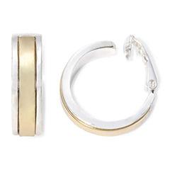Liz Claiborne® Gold-Tone & Silver-Tone Clip-On Hoop Earrings