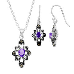 Sparkle Allure Le Vieux Silver Over Brass Jewelry Set