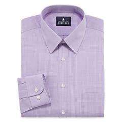 Stafford Long Sleeve Woven Grid Dress Shirt