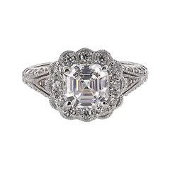 DiamonArt® Cubic Zirconia Sterling Silver Flower-Shaped Ring