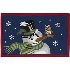 Nourison® Snowman Hand-Hooked Rectangular Rug
