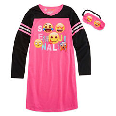 Emoji, Inc. N/A 3/4 Sleeve Nightshirt-Big Kid Girls