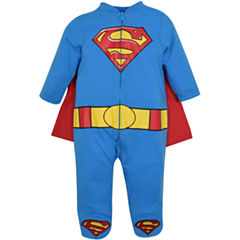 Caped Long Sleeve Superman Romper - Baby
