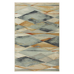 Mohawk Home New Wave Diamond Illusion Printed Rectangular Rugs