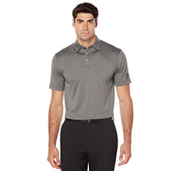 PGA Tour Short Sleeve Jacquard Jacquard Polo Shirt