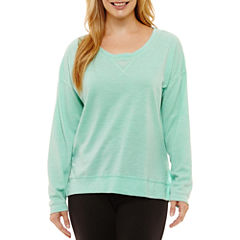 St. John's Bay Active Long Sleeve Sweatshirt-Petites