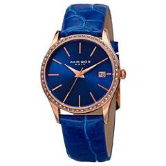 Akribos XXIV Womens Blue Strap Watch-A-883bu
