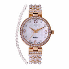Croton Clear Swarovski Womens Clear 2-pc. Watch Boxed Set-Cn207563ylcr